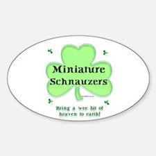 Mini Schnauzer Heaven Oval Decal
