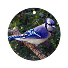 bluejayMP Round Ornament