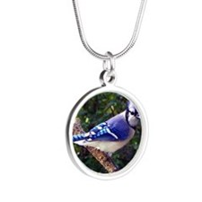 bluejayMP Silver Round Necklace