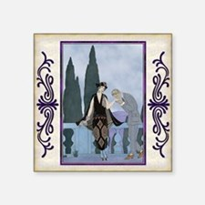 "Pillow-7 July-Barbier-Love Square Sticker 3"" x 3"""