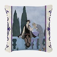 Pillow-7 July-Barbier-Love Woven Throw Pillow