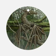 Wood Dragon Ornament (Round)