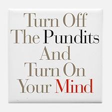 Turn_Off_Pundits Tile Coaster