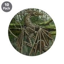 """Wood Dragon 3.5"""" Button (10 pack)"""