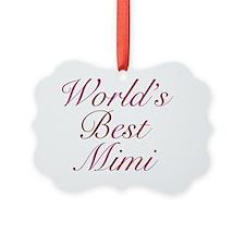 Worlds Best Mimi Ornament