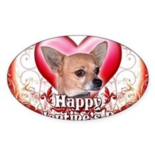 Happy Valentines Day Chihuahua Decal