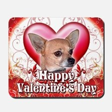 Happy Valentines Day Chihuahua Mousepad