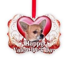 Happy Valentines Day Chihuahua Ornament