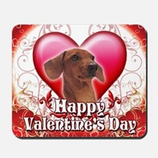 Happy Valentines Day Dachshund Mousepad