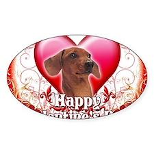 Happy Valentines Day Dachshund Decal