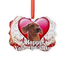 Happy Valentines Day Dachshund Ornament