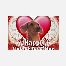 Happy Valentines Day Dachshund Rectangle Magnet