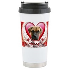 Happy Valentines Day Bull Masti Travel Mug