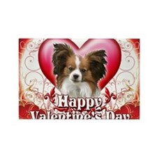 Happy Valentines Day Papillon Rectangle Magnet
