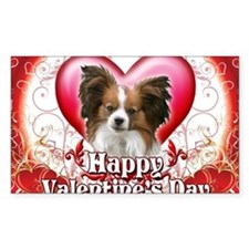 Happy Valentines Day Papillon Decal