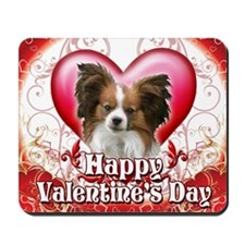 Happy Valentines Day Papillon Mousepad
