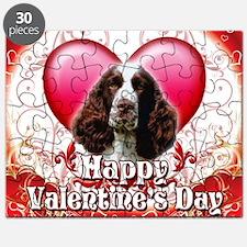 Happy Valentines Day Springer Spaniel Puzzle