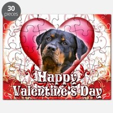 Happy Valentines Day Rottweiler Puzzle