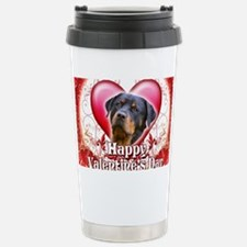 Happy Valentines Day Rottweiler Travel Mug