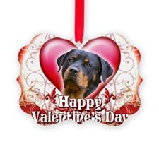 Happy Valentines Day Rottweiler Ornament