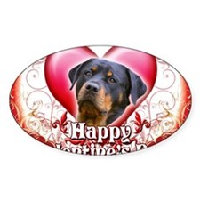 Happy Valentines Day Rottweiler Decal