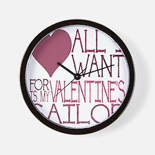 VALENTINE SAILOR Wall Clock