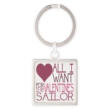 VALENTINE SAILOR Square Keychain