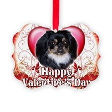 Happy Valentines Day Pekingnese Ornament