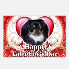 Happy Valentines Day Peki Postcards (Package of 8)