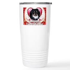 Happy Valentines Day Pekingnese Travel Mug