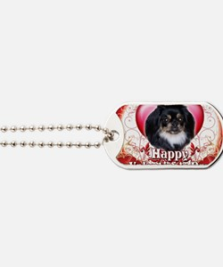 Happy Valentines Day Pekingnese Dog Tags