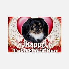 Happy Valentines Day Pekingnese Rectangle Magnet