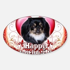 Happy Valentines Day Pekingnese Sticker (Oval)