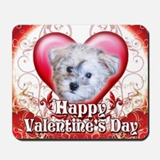 Happy Valentines Day Schnoodle Mousepad
