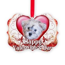 Happy Valentines Day Schnoodle Ornament