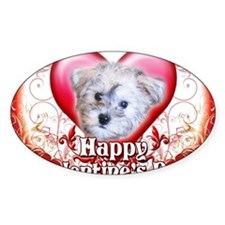 Happy Valentines Day Schnoodle Decal