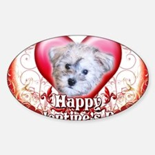 Happy Valentines Day Schnoodle Sticker (Oval)