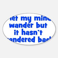 wanderingmind_btle1 Sticker (Oval)