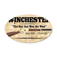 winchester_mouse Oval Car Magnet