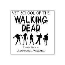 "zombievetschoolthirdyear Square Sticker 3"" x 3"""