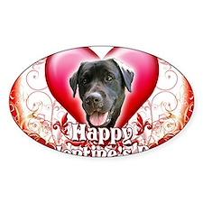 Happy Valentines Day Black Lab Decal