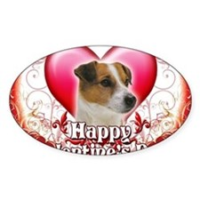 Happy Valentines Day Jack Russell Decal