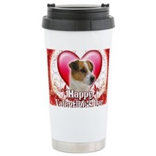 Happy Valentines Day Jack Russe Travel Mug