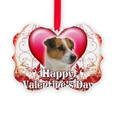 Happy Valentines Day Jack Russell Ornament