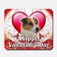 Happy Valentines Day Jack Russell Mousepad