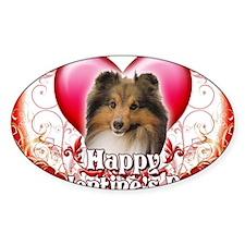 Happy Valentines Day Sheltie Decal