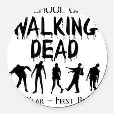 zombiemedschoolfirstyear Round Car Magnet