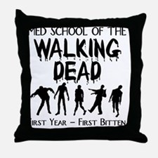zombiemedschoolfirstyear Throw Pillow