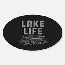Lake Life Floats My Boat Sticker (Oval)