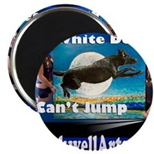 3- white dogs T Magnet